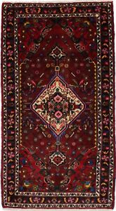 Colorful Hand Knotted Vintage Foyer Hamedan Persian Rug Oriental Area Carpet 3x6