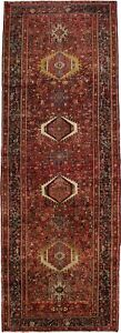 Nice Rare Oversized Runner Semi Antique Karajeh Persian Rug Oriental Carpet 5x13