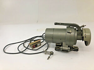 Vintage Clutch Motor Commercial Sewing Machine Transmitter Unity 1 2 Hp 5 6 Amp