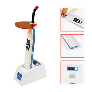 Dental 5w Led Wireless Cordless Curing Light Lamp Dual Color 1500mw Blue Ly c240