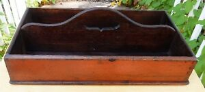 Antique English Georgian Finger Jointed Dovetailed Cutlery Tray