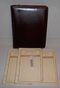 Vintage 90 s The Ultimate Leather Burgundy Organizer W 3 Refills New Old Stock