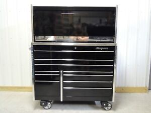 Snap On Black Ktl1022 Tool Box Stainless Top And Hutch