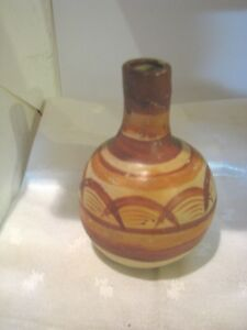 OLD POTTERY VASE 4 1 2 INCHES TALL