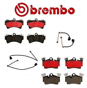 For Front Rear Disc Brake Pad Set And Sensors Brembo For Audi Q7 Vw Touareg