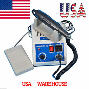 Dental 35k Rpm Marathon Electric Micromotor Contra Straight Handpiece Burs Usa