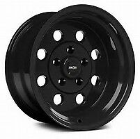 15x10 Vision Sport Lite Pro Drag Black Racing Wheel 5x4 5 6 5 bs 1pc No Weld