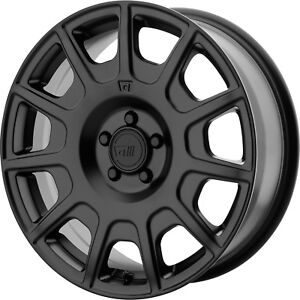 17x7 5 Black Motegi Mr139 Wheels 5x100 40 Fits Pontiac Vibe Sunfire