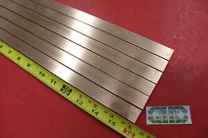 6 Pieces 1 8 X 3 4 C110 Copper Bar 16 Long Solid Flat Mill Bus Bar Stock H02