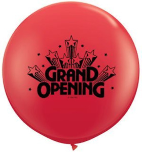 36 Grand Opening Standard Red Balloon Pack Of 5