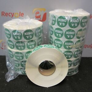 Mid Atlantic Label Qa Check Quality Assurance Stickers Lot 12 Rolls 2500 Ct Roll