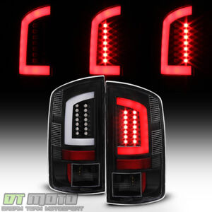 Black 2002 2006 Dodge Ram 1500 03 06 Ram 2500 3500 led Tube Tail Lights Lamps