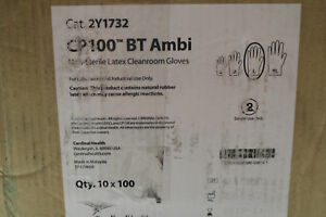 Case Of 1000x Cardinal Health Cp1000 Bt Ambi Latex Cleanroom Lab Gloves Large