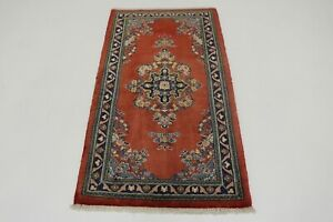 Fabulous Classic Traditional Small Vintage Persian Rug Oriental Area Carpet 2x4