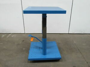 Lexco Ht3338 2f 2000 Lb Lift Table Die Cart 30 x30 30 48 Ht On Casters Tested