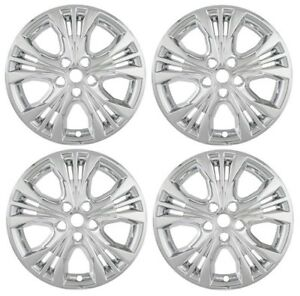 New 2014 2015 Chevrolet Impala 18 Alloy Wheel Chrome Hubcaps Covers Skin Set