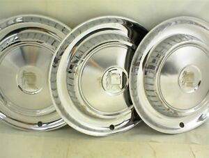 3 Vintage 1957 1958 Dodge Hubcaps 14 Wheel Covers