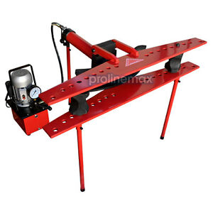Electric 21 Ton Hydraulic Tube Pipe Bender 370mm Stroke 9 Dies 1 2 To 4