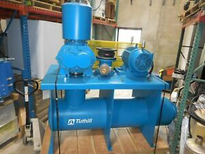 2011 Tuthill 40hp 7018 21l2 b8785 Base Mounted 8 Blower Silencers Used