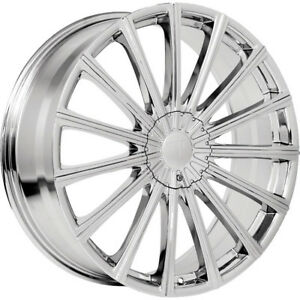 22x9 Chrome Velocity Vw10 Wheels 5x115 5x120 13 Lifted Fits Honda Ridgeline