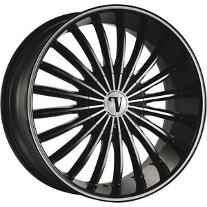 24x9 5 Black Machined Velocity Vw11 M Wheels 5x135 5x5 5 13 Fits Lincoln