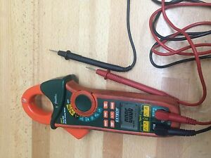 Extech Ex613 400a Dual Input Multimeter Clamp And Ncv Ac Dc Digital Display