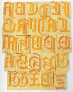 Letterpress Letter Wood Type Printers Block a To Z Typography 8 Inches bc 1431