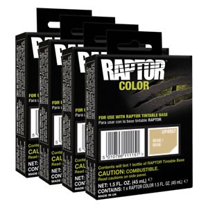U Pol 4857 Raptor Beige Color Tint Pouch For 4l Truck Bed Liner Kit 4 Pack