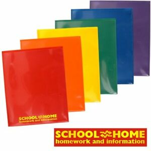 Storesmart Plastic School home 2 pocket Folders Primary Colors 48 Pack 8