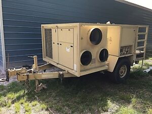 50 Kw Generator And 15 Ton Ac On Trailer Military Low Hours Drash