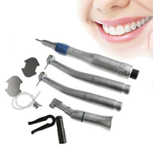 Dental High Low Speed Handpiece Kit Push Button 2 Hole Egenerator Led Nsk Ex203c