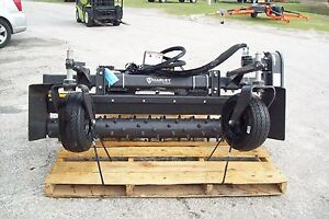 Deere Skid Steer Harley Landscape Power Rake m6h 6 Hydraulic Angle In Stock
