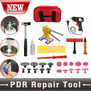 32pc Pdr Paintless Hail Dent Repair Lifter Puller Ding Removal Tools Kits Bag