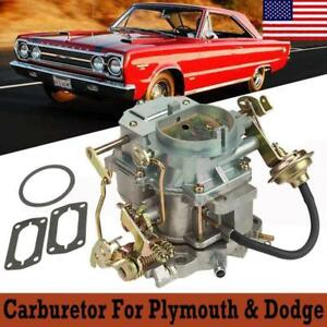 Carter Bbd 2 Barrel Carb Carburetor For Dodge Chrysler 318 Engines Us Shipping