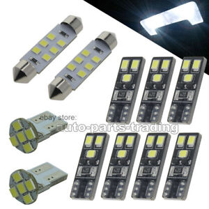 White Led Map Dome Light Interior Bulb Package Kit For 1998 2011 Ford Ranger