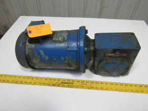 Boston Gear 10 1 Speed Reducer 172 5rpm Electric Gear Motor 3hp 208 230 460v 3ph