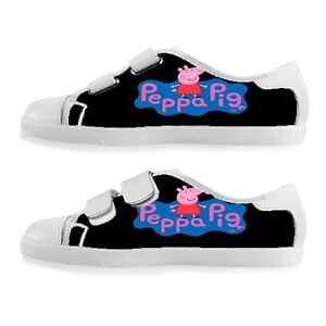 Custom Velcro Shoes For Boy And Girls Peppa Pig Shoes