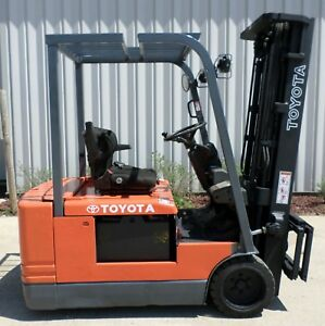 Toyota Model 5fbe20 1997 4000 Lbs Capacity Great 3 Wheel Electric Forklift