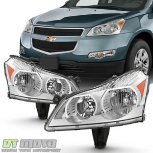 2009 2010 2011 2012 Chevy Traverse Ls Lt Model Headlights Headlamps Left Right
