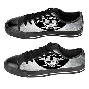 Custom Aquila Shoes For Kids And Adult Oakland Raiders Shoes