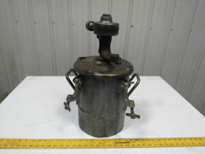 Galvanized Steel 2 Gallon Pressure Pot Tank W pneumatic Mixer 110psi