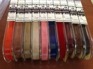 Lot 500 Yards New 5 8 Velvet Ribbon Nylon Fabric Made In Switzerland Washable