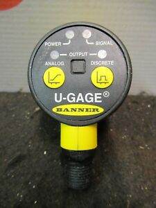 Banner U gage Ultrasonic Sensor Temperature Compensation Proximity New