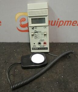Extech 401025 Digital Lux Light Meter Foot Candle Manual Adjustment Fast Slow
