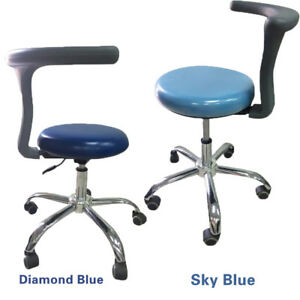 2pcs Adjustable Mobile Dental Doctors Assistant Stools Seat Chair Pu Leather Y