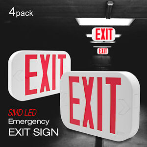 Etoplighting 4 Pack Exit Emergency Led Sign Battery Back up Red Letter Light
