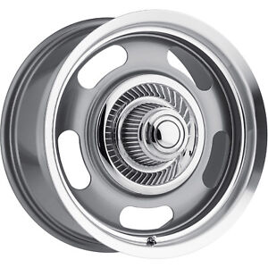 17x8 Gunmetal Vision Rally Wheels 5x4 75 5x5 0 Fits Buick Special