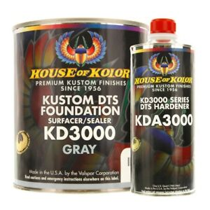 House Of Kolor Kd3000 G01 Kustom Dts Foundation Gray Surface Sealer Gallon Kit