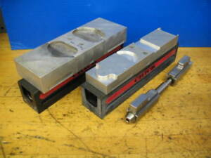 2 Chick Work Holding 081 1251 Vise Bodys Jaws Cnc Milling xlnt