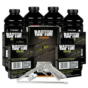 U Pol 821 4855 Light Gray 4l Raptor Spray On Truck Bed Liner Kit W Gun